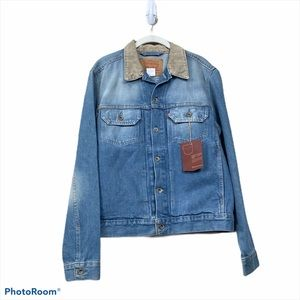 Levi's denim jacket vintage wash corduroy collar